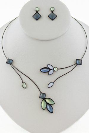 Czech glass necklace 11