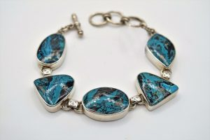 Arizona lightning blue chrysocolla bracelet