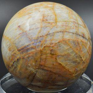 Belomorite moonstone sphere