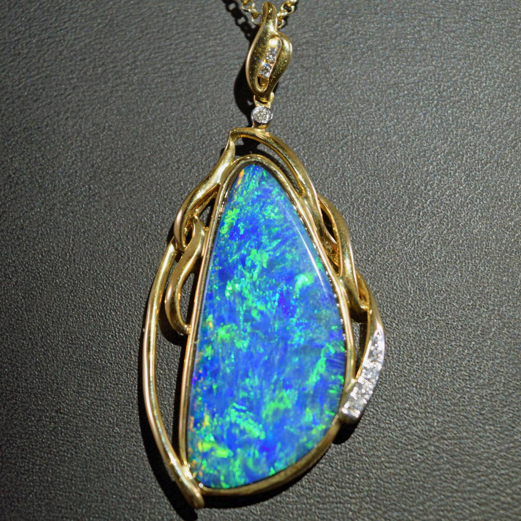 copy img set jewellers products cosmopolitan boulder diamonds black pendant with grade opal gem in