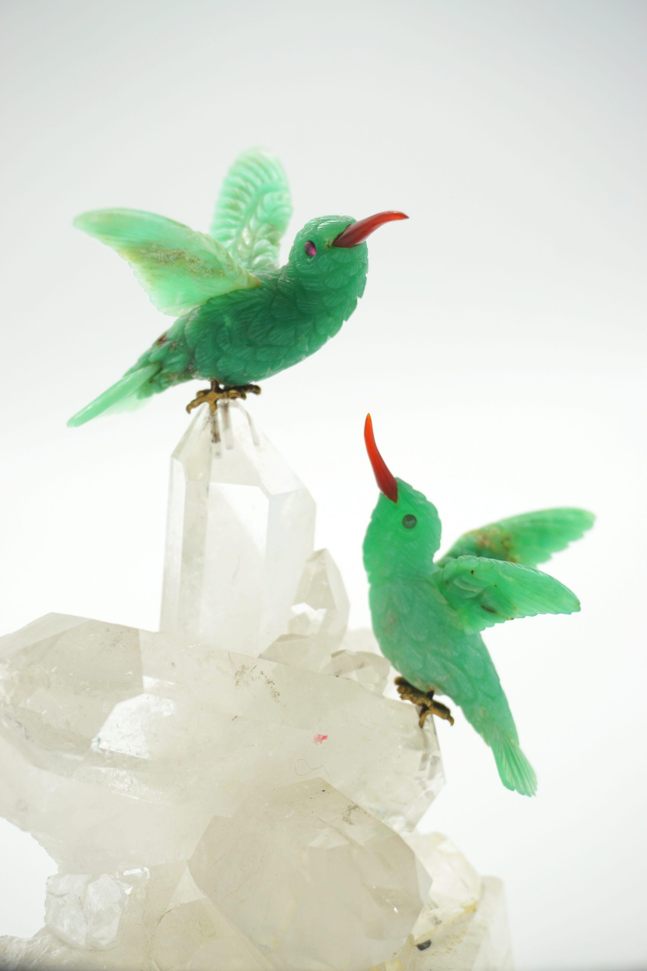 Geoclassics chrysoprase hummingbirds