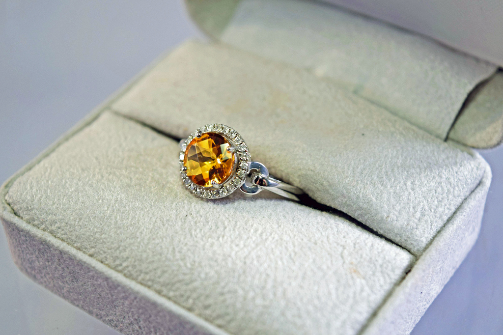 rings c coloured lasered citrine gold exceptional diamond stone d in ring