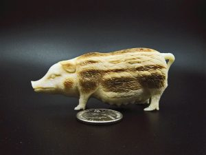 Pig carved from fossil ivory