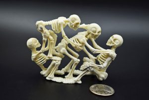 Skeletons carved from moose antler