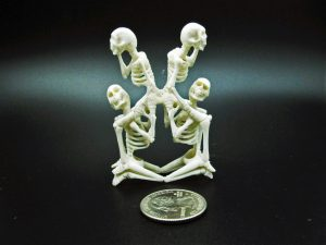 Skeletons carved from moose antler