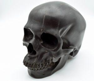 Jet skull carving