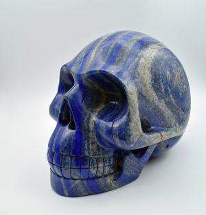 Lapis skull carving
