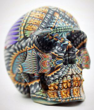 Polymer clay skull