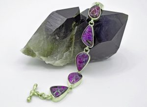 Sugilite six stone bracelet