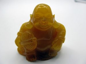 Happy Buddha Baltic amber carving
