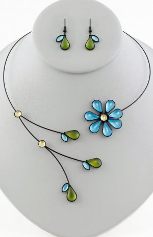Czech glass necklace 7