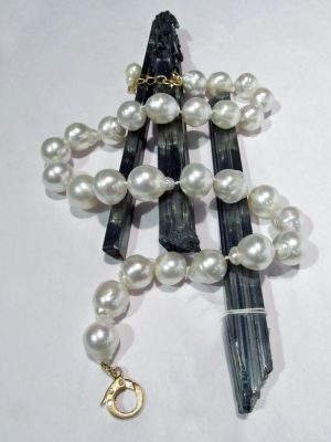 South Sea pearls graduated necklace