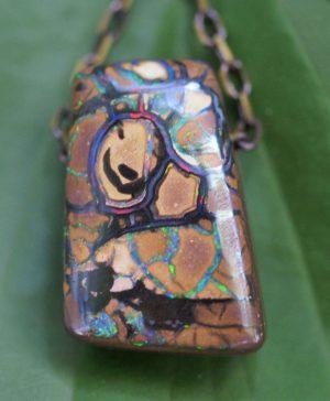 Australian boulder opal pendant necklace 4