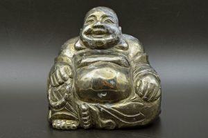 Chalcopyrite Buddha carving