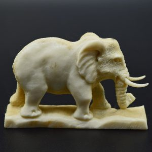 Elephant carved from moose antler