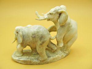 Elephants carved from moose antler