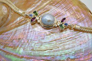 Freshwater pearl foxtail chain bracelet