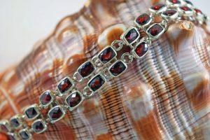 Garnet double-row bracelet