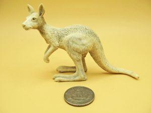 Kangaroo carved from moose antler