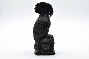 Jet parrot carving