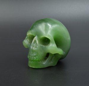 Jade skull carving