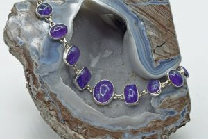 Tanzanite 9 stone link bracelet