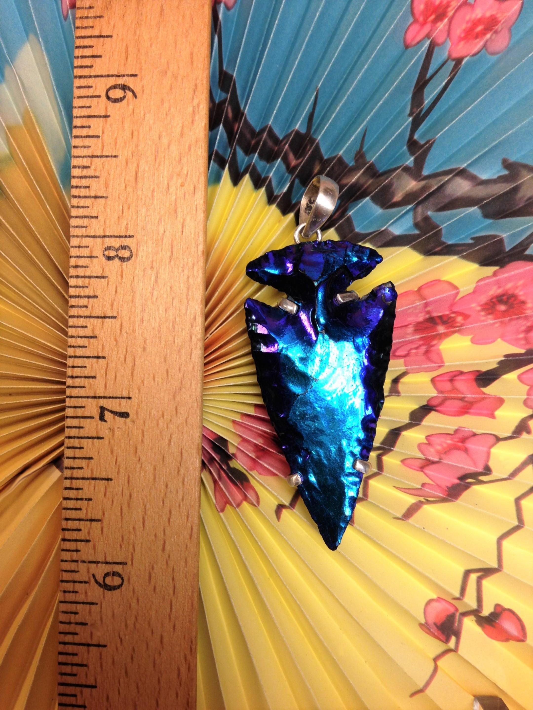 Geoclassics Titanium Coated Jasper Arrowhead Pendant