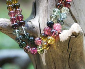 Tourmaline two-strand graduated beads